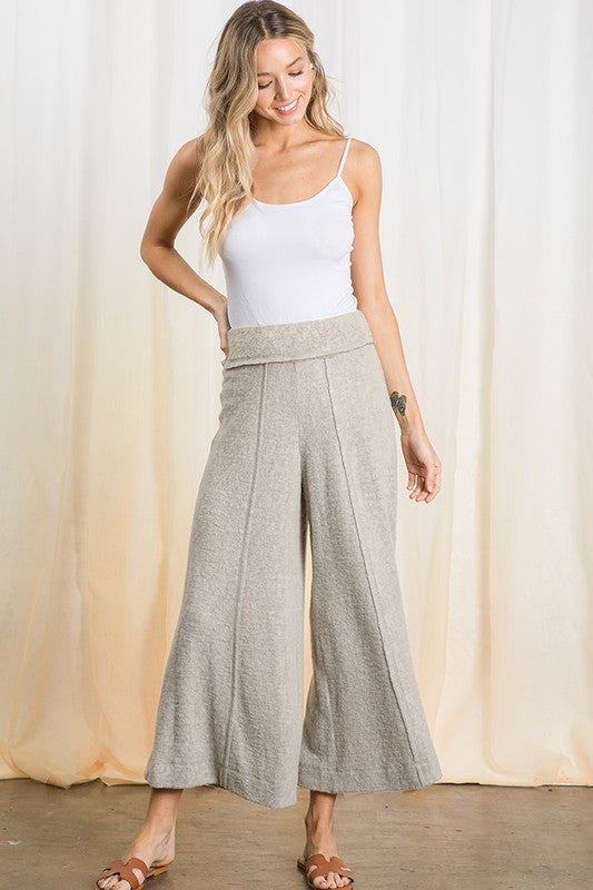 Two Tone Brushed Knit Pants
