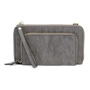 Brushed Charcoal Zip Crossbody