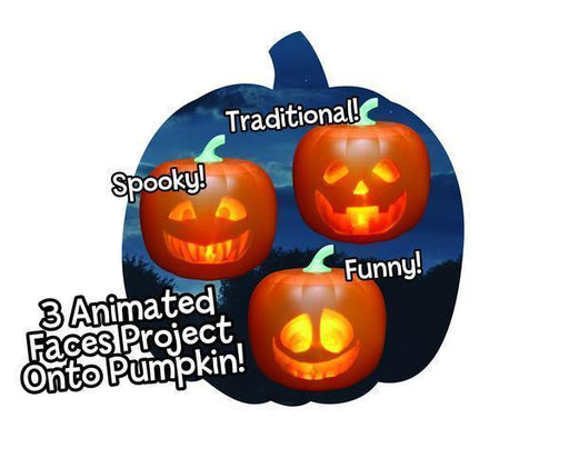 Halloween Talking Animated Pumpkin with Built-In Projector & Speaker [FREE SHIPPING]