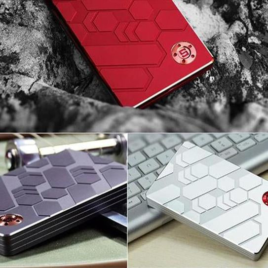 The Coolest Fan-Shaped Sliding Carbon Alloy Anti-Theft Security Wallet