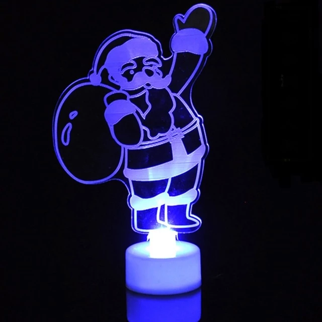 Acrylic Christmas LED Light Ornaments