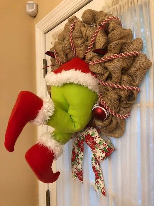 How the Christmas Thief Stole Christmas Burlap Wreath
