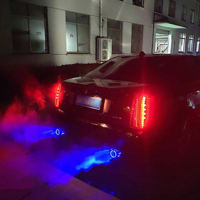 Led Light Modified Car Exhaust Pipe