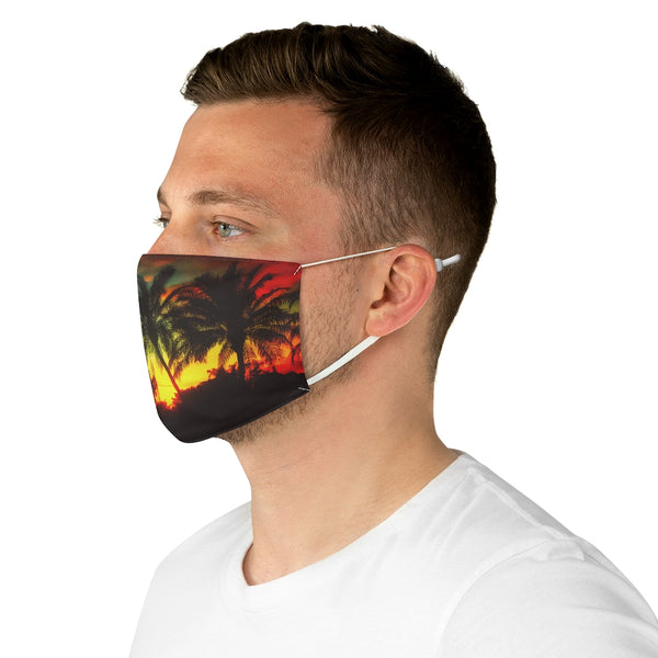 A Tropical Sunset Fabric Face Mask