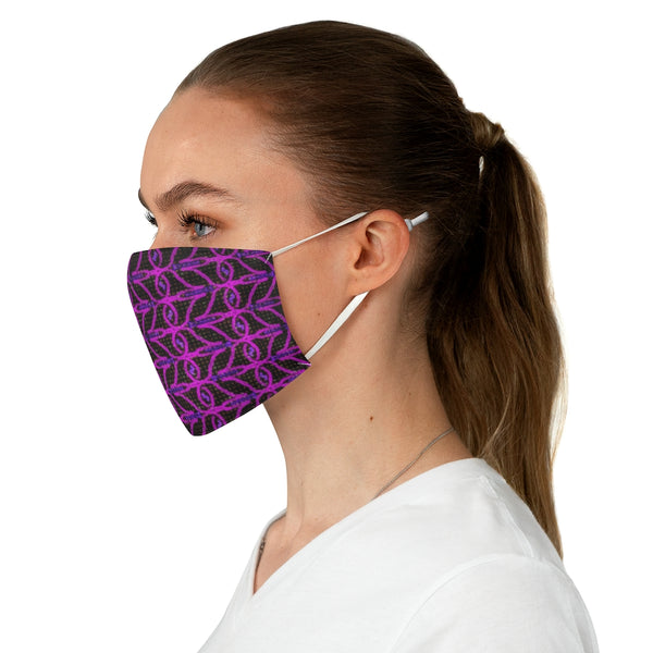 A Pink and Purple abstract Fabric Face Mask