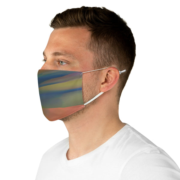 A Blended Blue Orange Fabric Face Mask