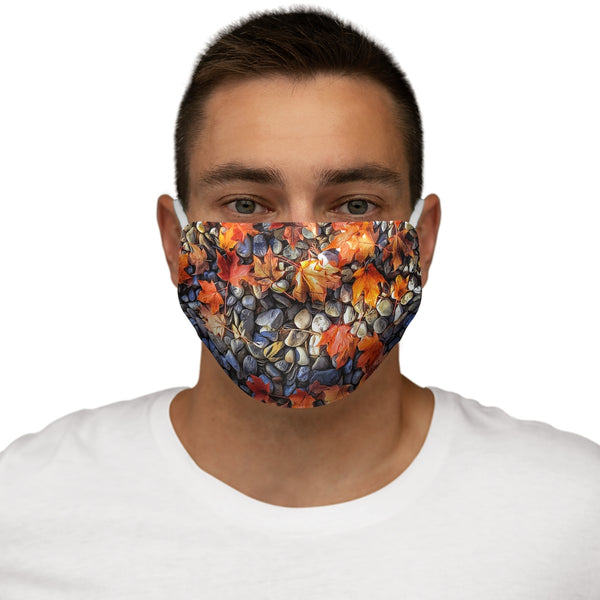 An Autumn Leaf Snug-Fit Polyester Face Mask