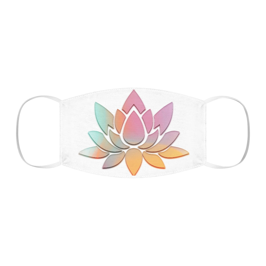 A Pastel Lotus Flower Snug-Fit Polyester Face Mask