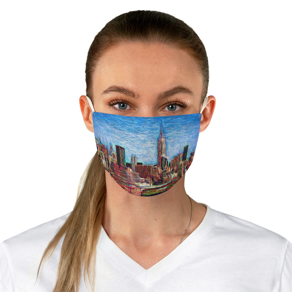 A New York City Scene 1 Fabric Face Mask