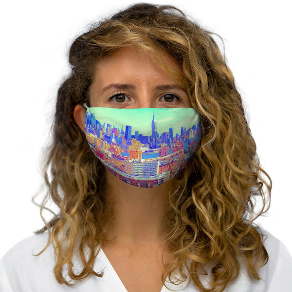 A NY Skyline Snug-Fit Polyester Face Mask