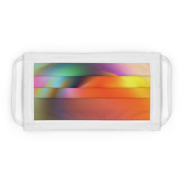 A Multi Color Smooth Abstract Design Cotton Face Mask (EU)