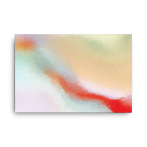 Red Swirl 2 Canvas