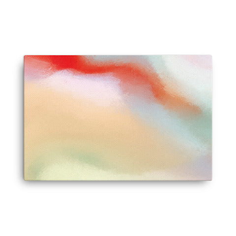 Red Swirl 5 Canvas
