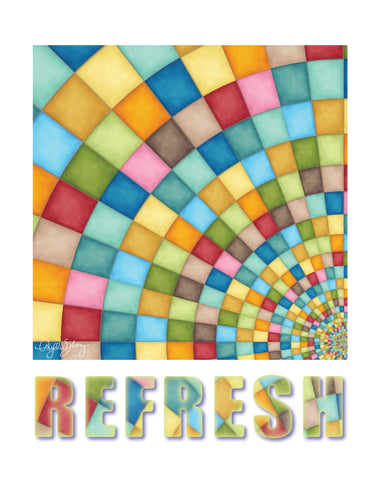 Refresh, Healing Art Poster