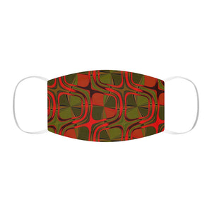 A Red Olive Graphic pattern Snug-Fit Polyester Face Mask