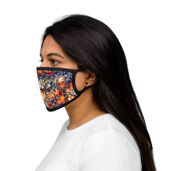 An Autumn Leaves Mixed-Fabric Face Mask