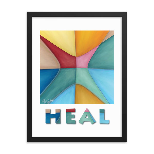 Heal, Framed Healing Art Abstract Poster