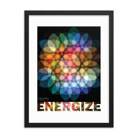 Energize Framed Abstract Healing Art Poster