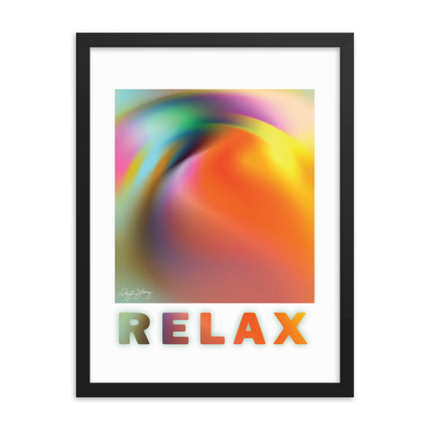Relax, Framed Healing Art Abstract Poster