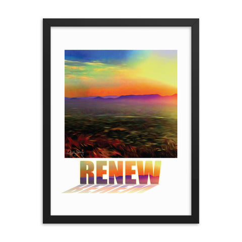 Renew, Framed Healing Art Abstract Poster