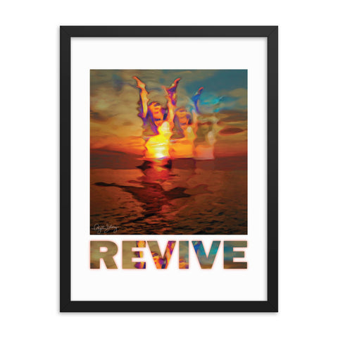 Revive, Framed Healing Art Abstract Poster