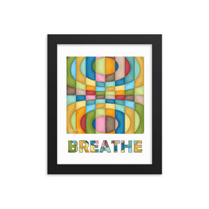 Breathe, Framed Abstract, Healing Arts poster