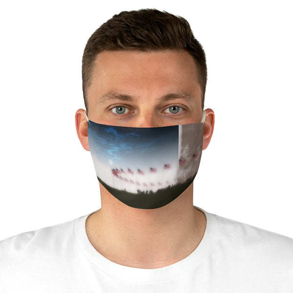 A Washington Monument Flags Fabric Face Mask