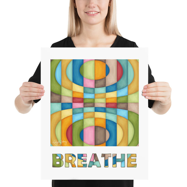 Breathe, Healing Art Poster