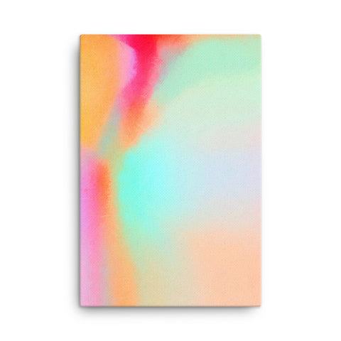 AquaPink Abstract 1 Canvas