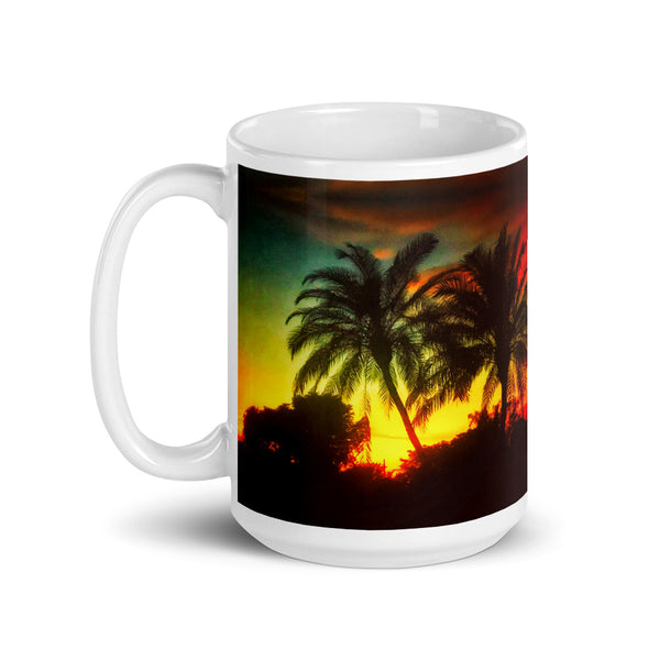 Tropical Sunset Large Mug