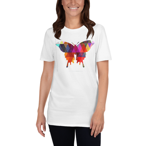 Color Pattern Butterfly Short-Sleeve Unisex T-Shirt