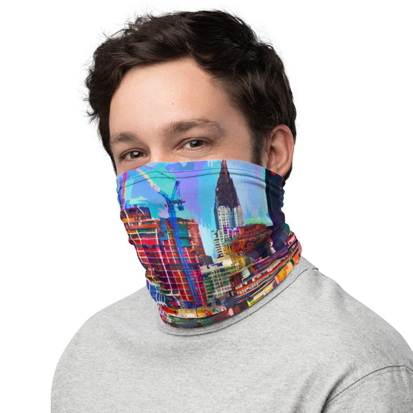 NYC Buildings Vibrant Color -Neck Gaiter