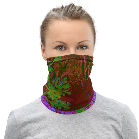 Green branch and Magenta - Neck Gaiter