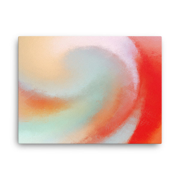 Red Swirl 4 Canvas