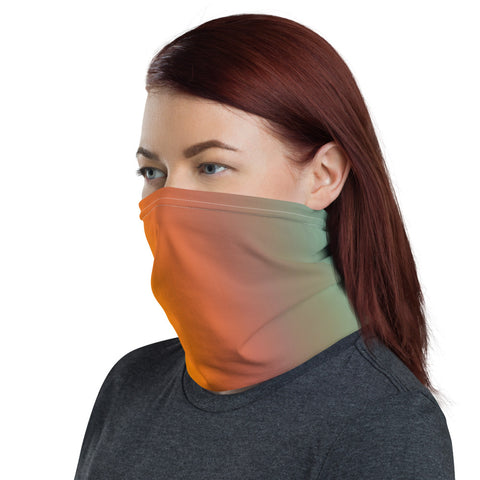 Yellow, Aqua Swirl Abstract  - Neck Gaiter