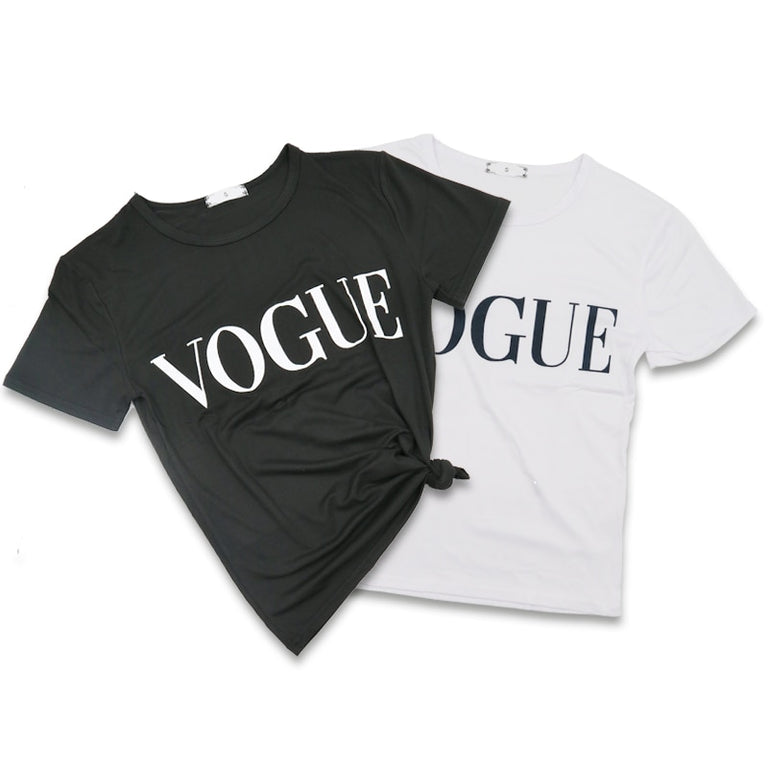 Casual Female T-shirts Plus Size S-L Harajuku Summer T Shirt Women Fashion VOGUE Printed T-shirt Woman Tee Tops Clothing