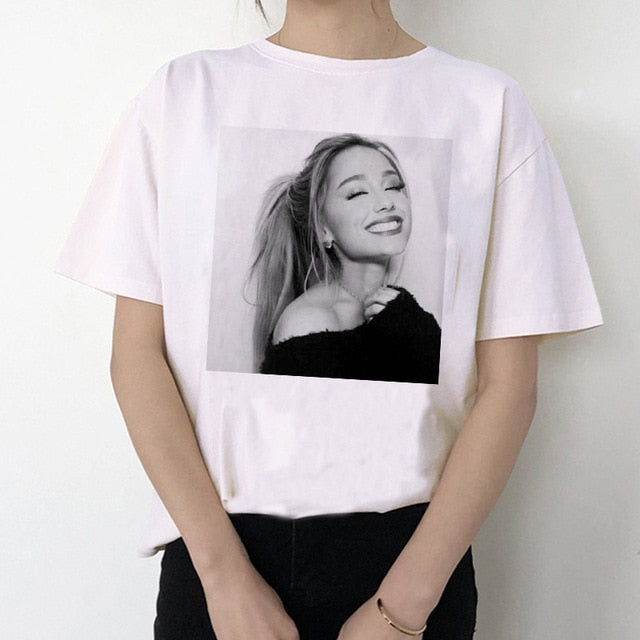 Ariana Grande T Shirt Women 7 Rings Fashion Harajuku Thank U,Next Tshirt 90s Hip Hop Short Sleeve Ullzang T-shirt Top Tee Female