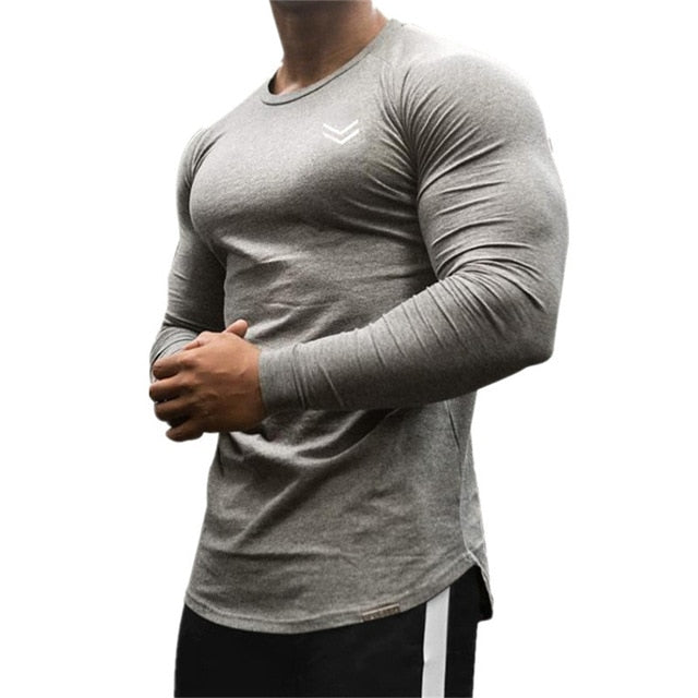 T-Shirt Men 2019 Autumn New Long Sleeve O-Neck T Shirt Men Brand Clothing Fashion fitness Cotton Tee Tops clothing