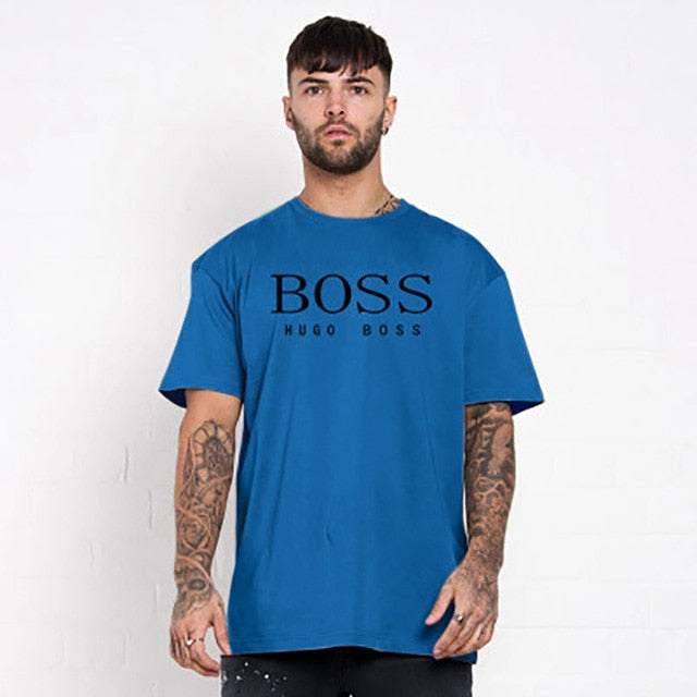 Olevo Hot Sale New Men's Fashion Short Sleeve Letters Print T-Shirt Multicolor Tacksuit Oversized T Shirt Funny Streetwear
