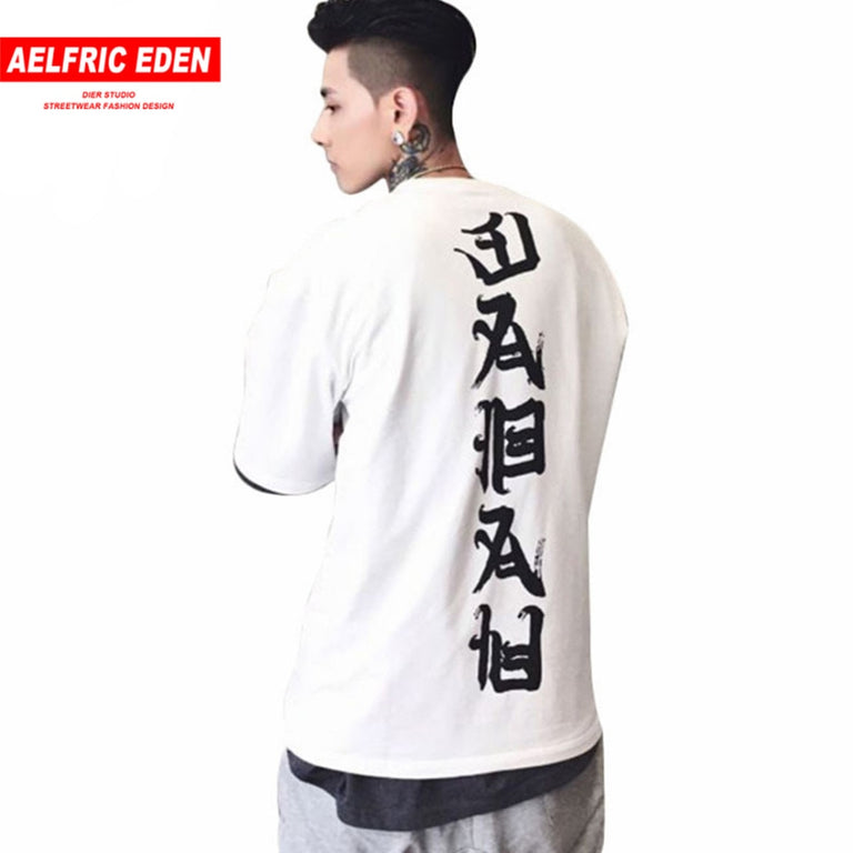 Aelfric Eden 3XL Oversized T Shirts Men Tops Joint Evil T-shirt Streetwear Vogue Loose Couple Tee Shirt Casual Hip Hop Tshirt