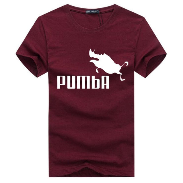 BINYU 2018 funny tee cute t shirts homme Pumba men short sleeves cotton tops cool t shirt summer jersey costume Fashion t-shirt