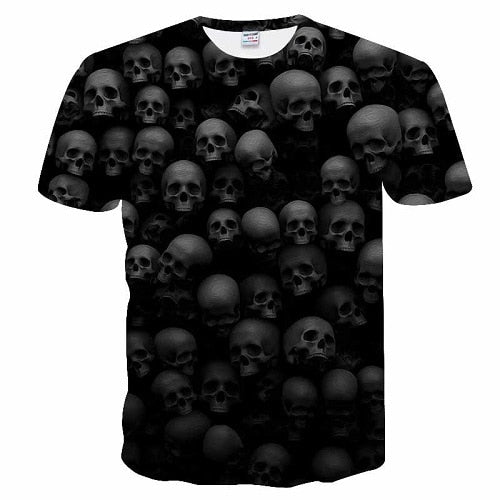 2018 Skull&Flower 3D bird Printed t shirt Men Women tshirt Summer Funny Short Sleeve O-neck Streetwear Tops&Tees Drop Ship