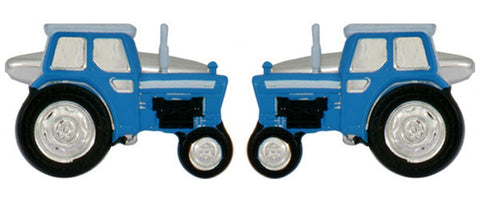 Blue Tractor Novelty Cufflinks