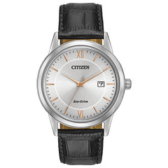 Gent's Citizen Eco-Drive Rose-Gold Accented Watch