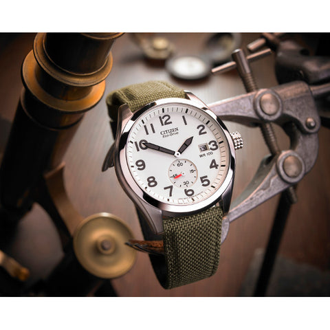 Gent's Citizen Eco-Drive Military Style Fabric Watch