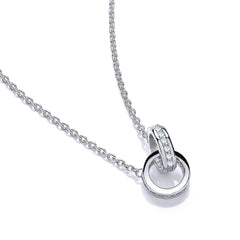 DiamonDust Swarovski Zirconia Entwined Circle Necklace