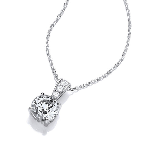 DiamonDust Swarovski Zirconia Round Solitaire Necklace