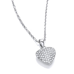 DiamonDust Swarovski Zirconia Heart Necklace