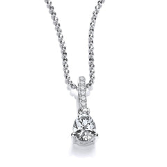 DiamonDust Swarovski Zirconia Pear Drop Necklace