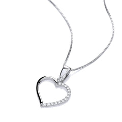 DiamonDust Swarovski Zirconia Open Heart Necklace